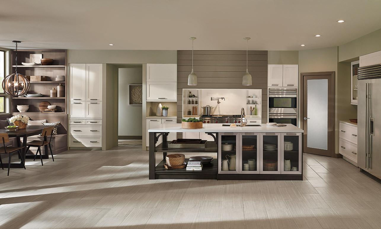 Elan cabinets in an open kitchen design