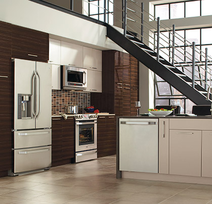 Pamli Thermofoil kitchen cabinets from the Integra Collection