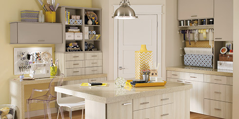 Soho Thermofoil craft room cabinets
