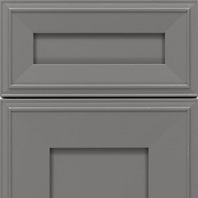 Cloudburst white cabinet color on an Elan cabinet door