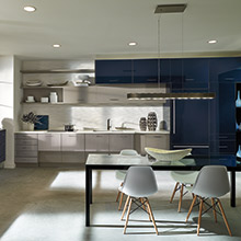 Summit and Contempra kitchen cabinets in a horizontal orientation