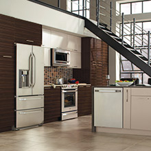 Pamli kitchen design with industrial elements