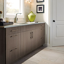 Soho kitchen cabinets with clean lines