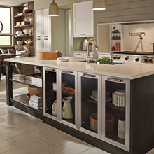 Elan kitchen island with purposeful design for functionality and organization