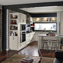 Asher kitchen that transitions into a living space
