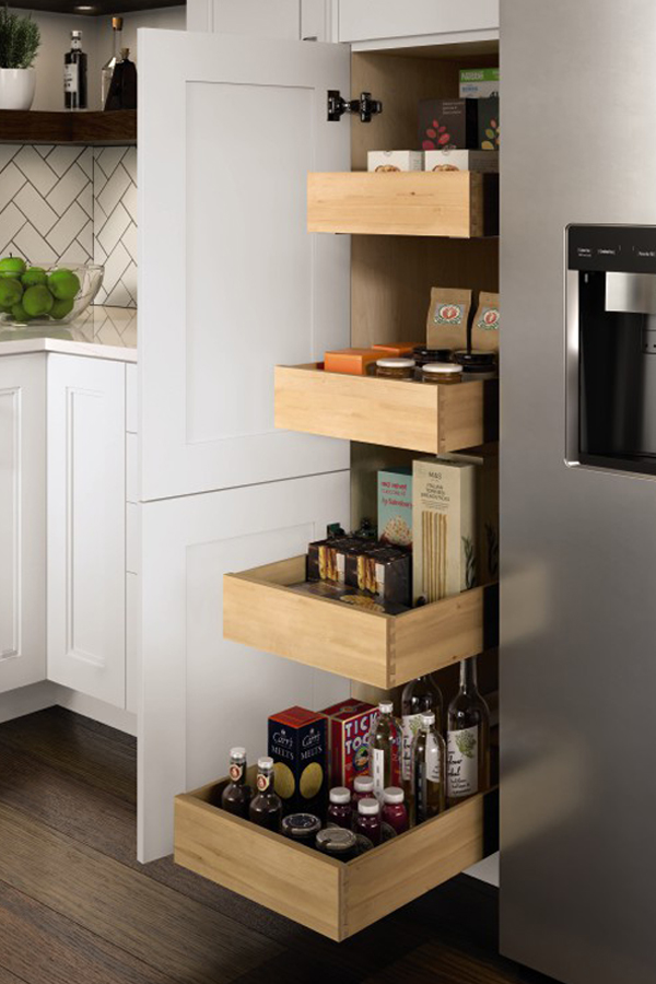 Utility Cabinet With Slide Out Trays Kitchen Craft
