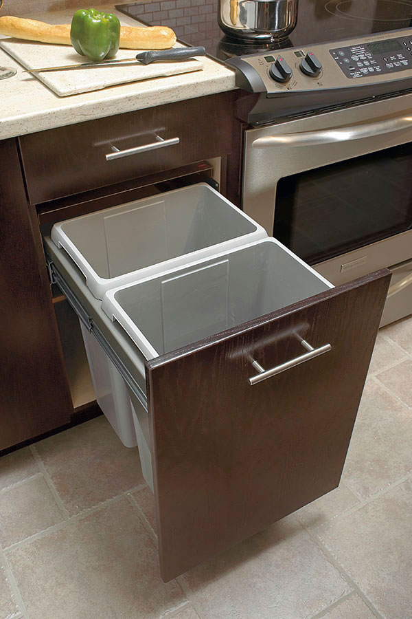 Slide Out Waste Center Cabinet Kitchen Craft