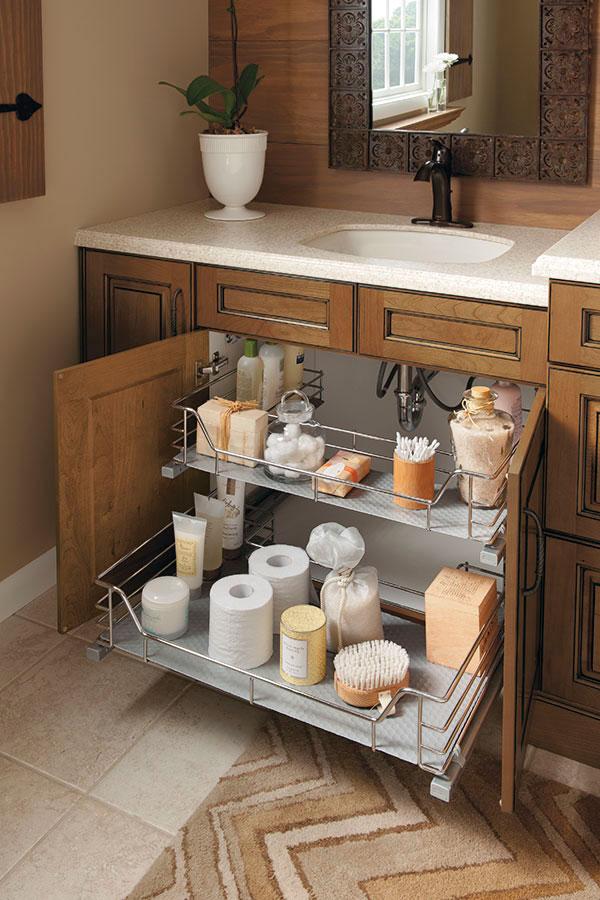 Vanity Sink Base Cabinet With U Shaped Slide Out