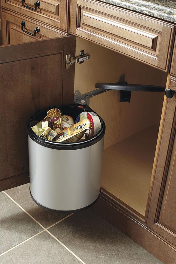 Sink Base Cabinet With Round Waste Bin Kitchen Craft