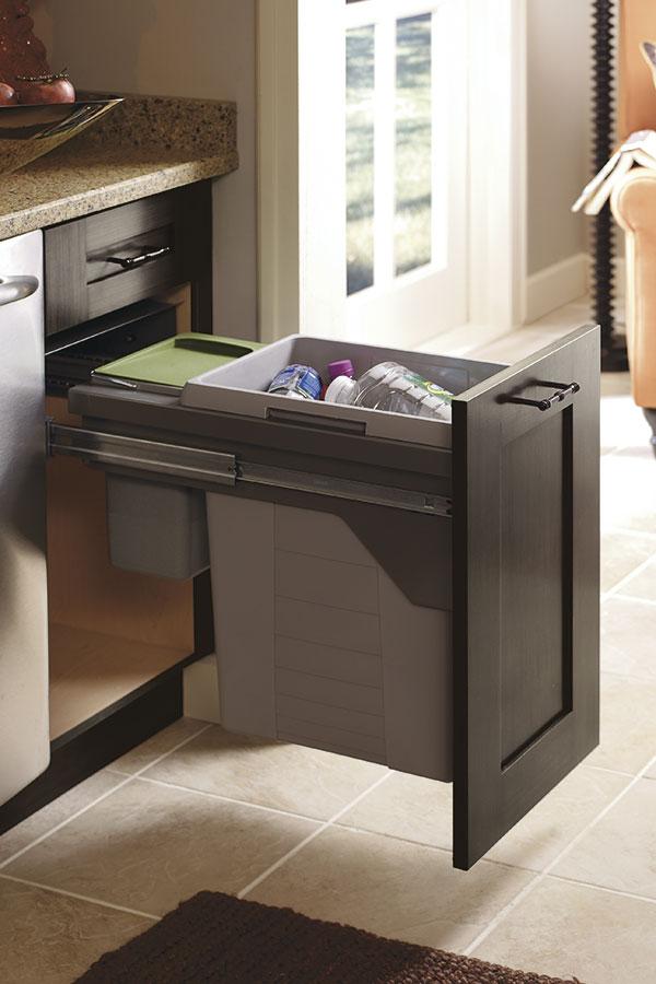Base Wastebasket Cabinet With Compost Bin