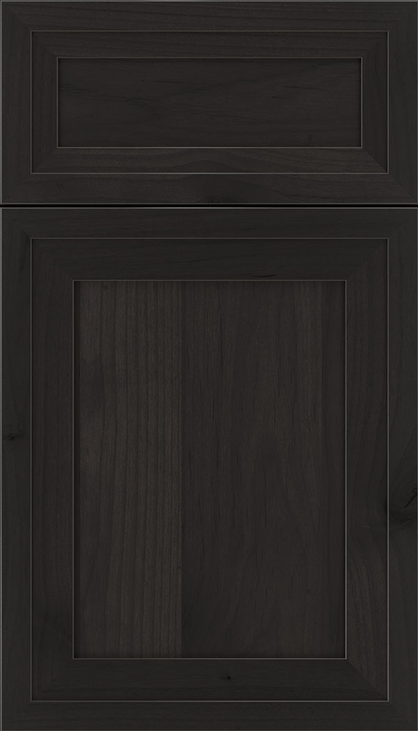 Asher 5pc Alder flat panel cabinet door in Charcoal
