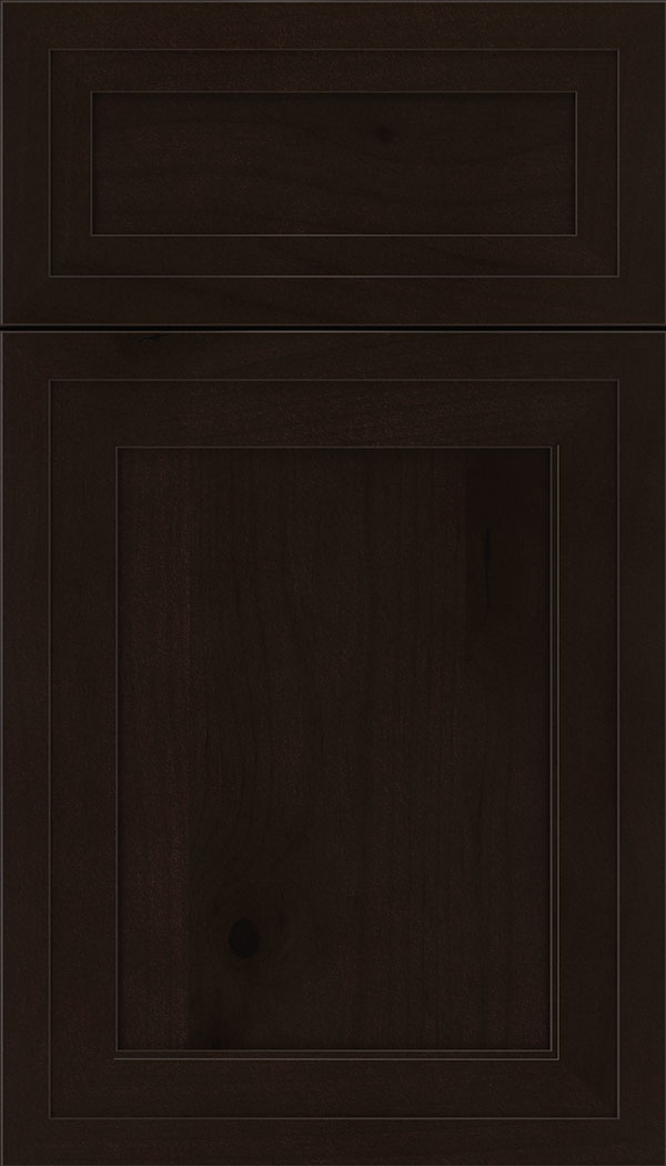 Asher 5pc Alder flat panel cabinet door in Espresso
