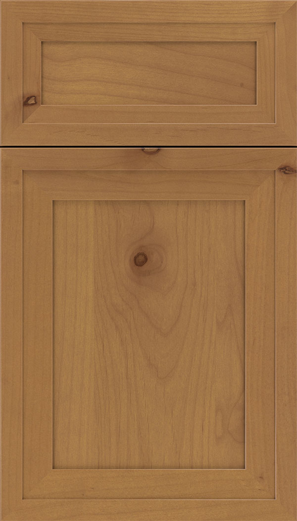 Asher 5pc Alder flat panel cabinet door in Ginger