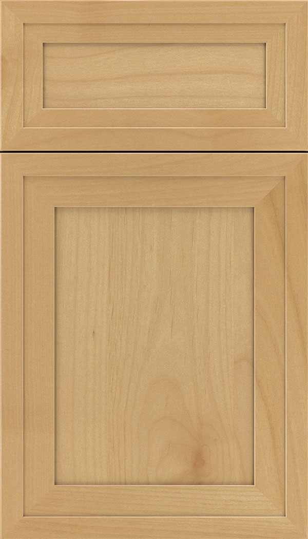 Asher 5pc Alder flat panel cabinet door in Natural
