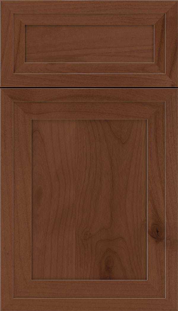 Asher 5pc Alder flat panel cabinet door in Russet
