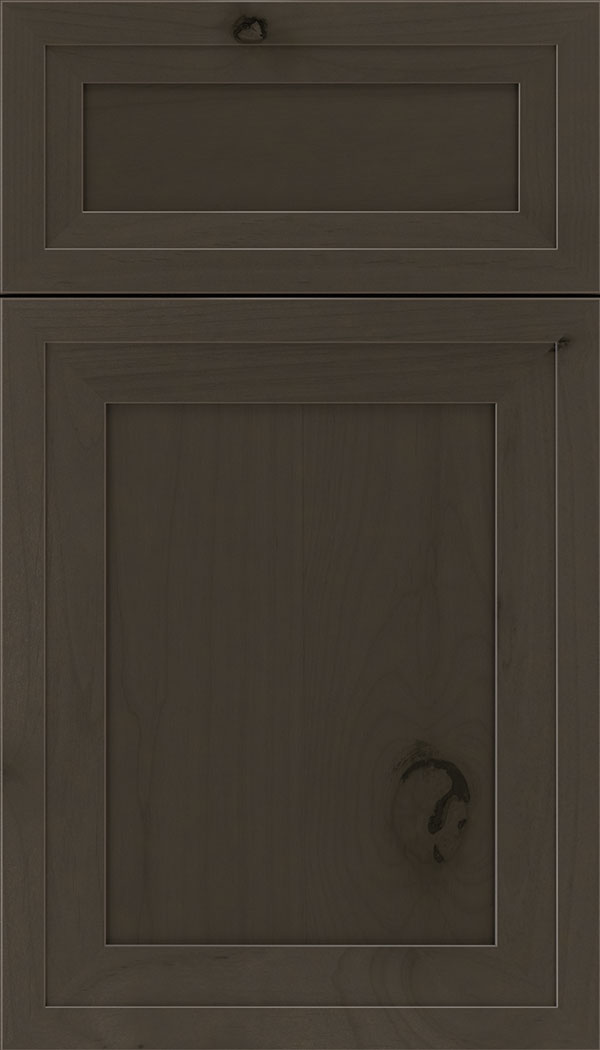 Asher 5pc Alder flat panel cabinet door in Thunder