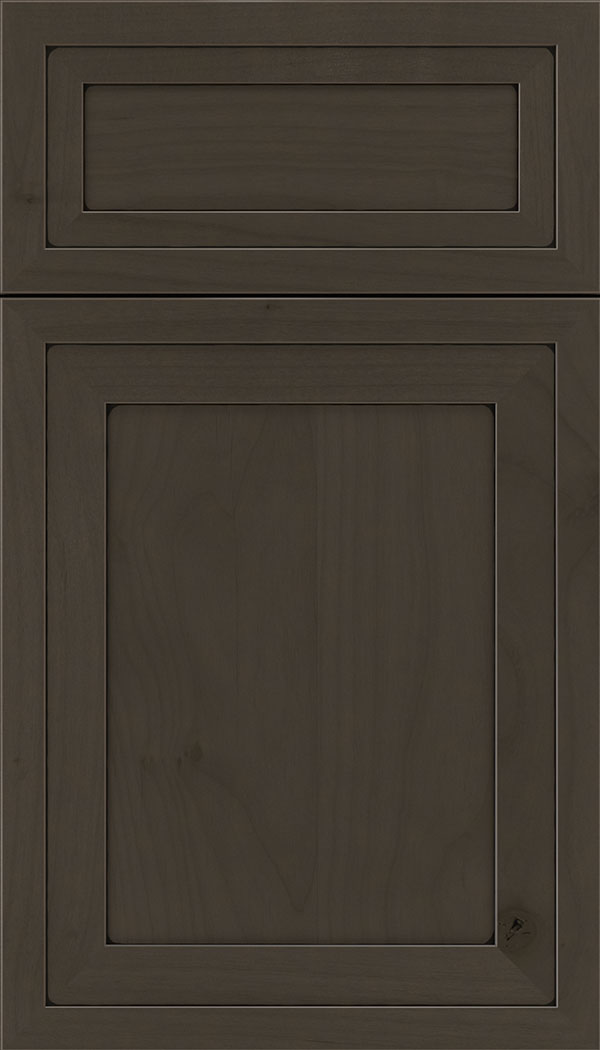 Asher 5pc Alder flat panel cabinet door in Thunder with Black glaze
