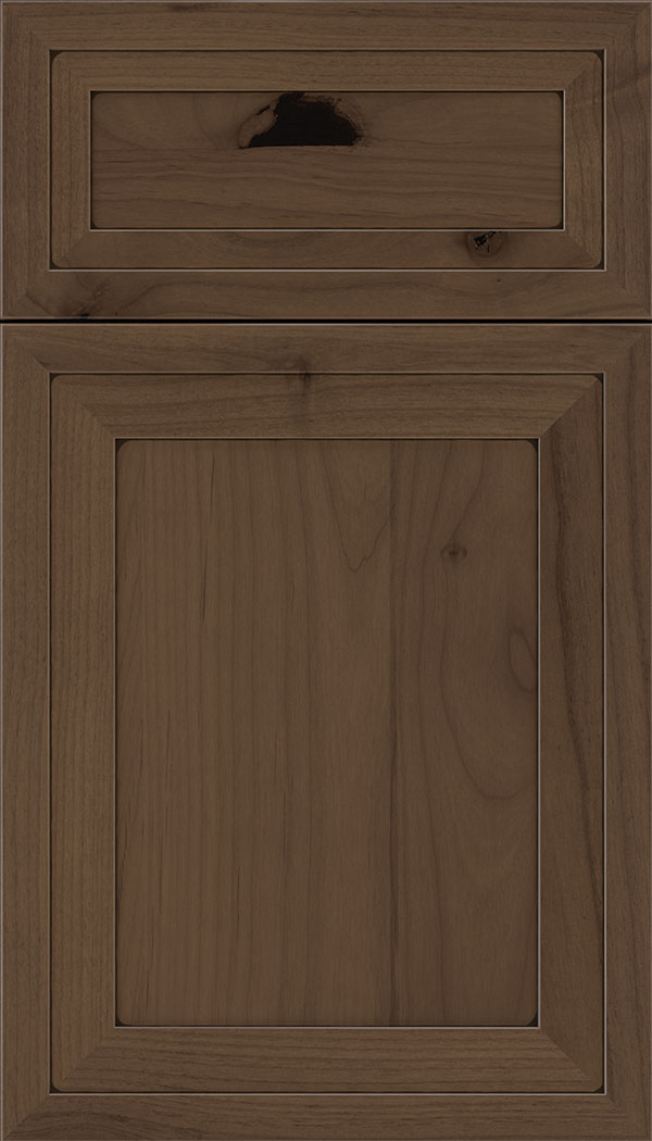 Asher 5pc Alder flat panel cabinet door in Toffee with Black glaze