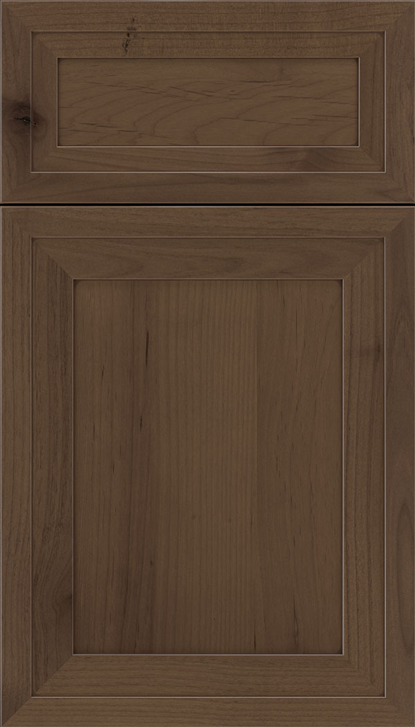 Asher 5pc Alder flat panel cabinet door in Toffee with Mocha glaze