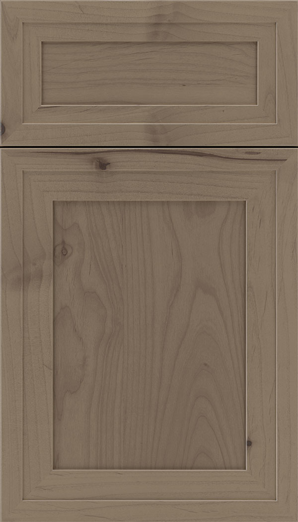 Asher 5pc Alder flat panel cabinet door in Winter