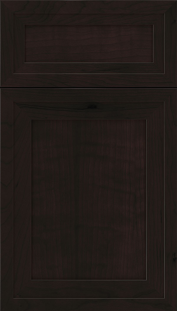 Asher 5pc Cherry flat panel cabinet door in Espresso