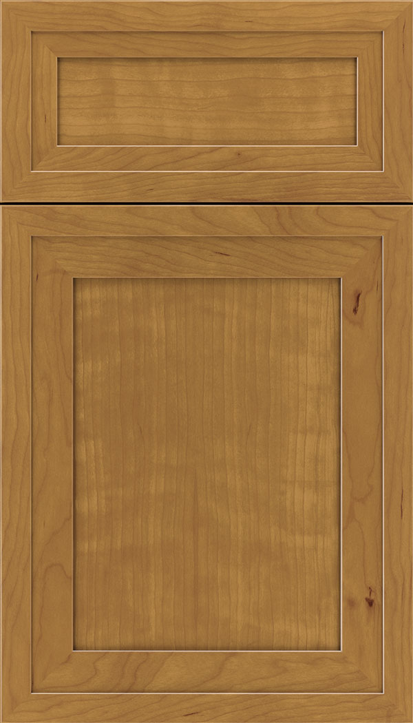 Asher 5pc Cherry flat panel cabinet door in Ginger