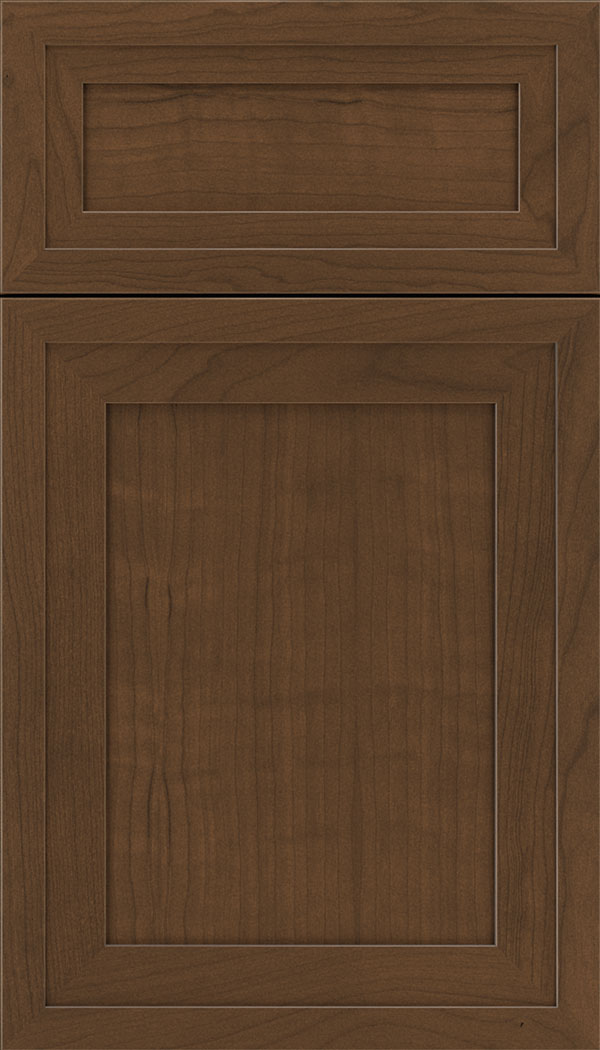 Asher 5pc Cherry flat panel cabinet door in Sienna