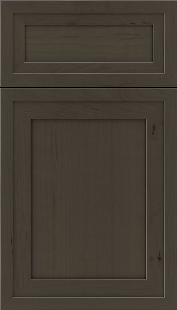 Asher 5pc Cherry flat panel cabinet door in Thunder
