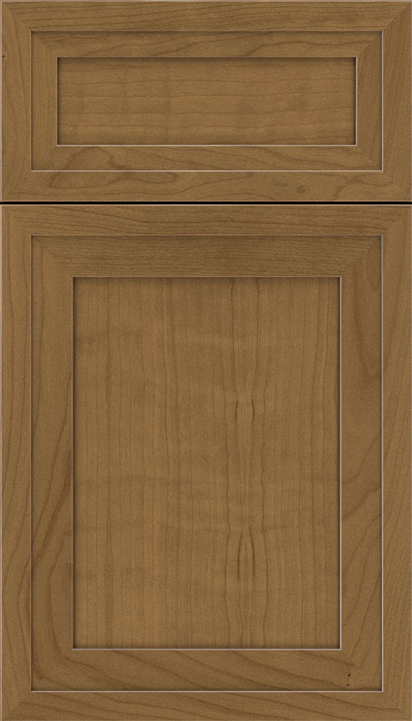 Asher 5pc Cherry flat panel cabinet door in Tuscan