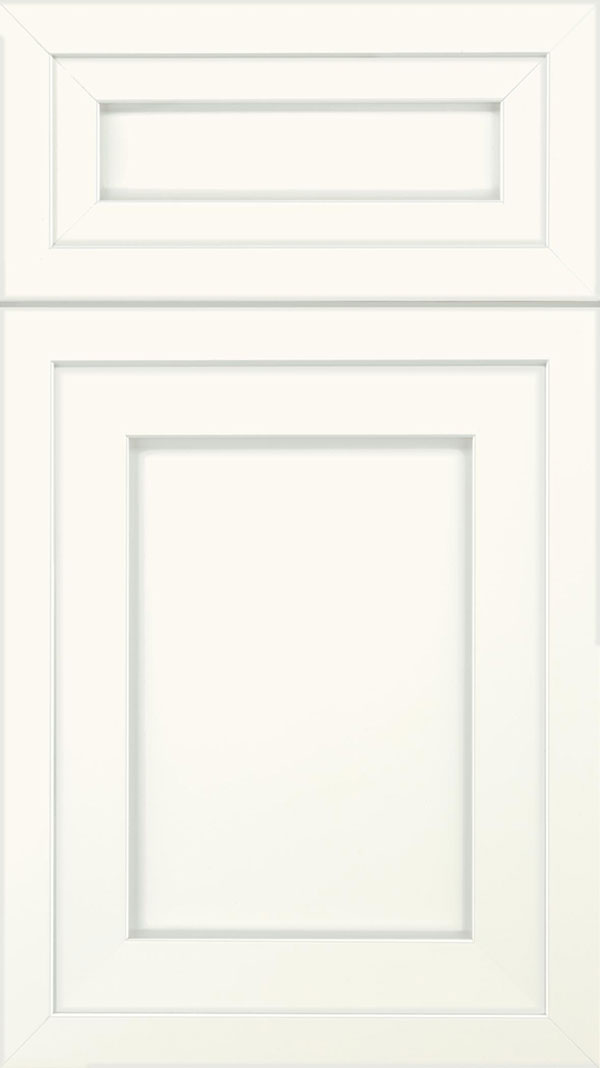 Asher 5pc Maple flat panel cabinet door in Alabaster