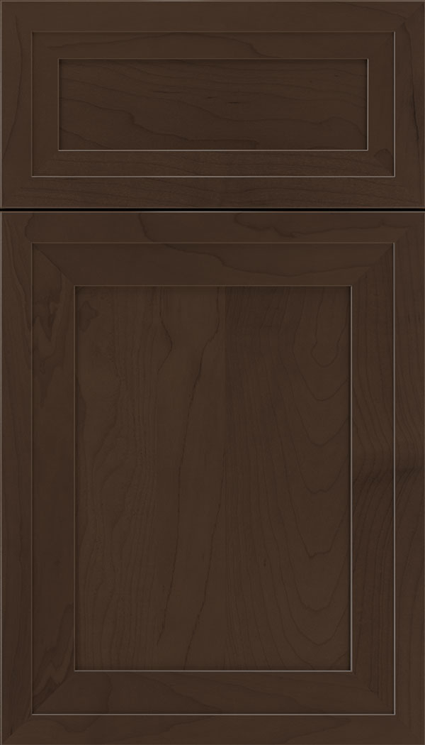 Asher 5pc Maple flat panel cabinet door in Cappuccino