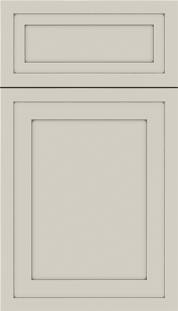 Asher 5pc Maple flat panel cabinet door in Cirrus with Pewter glaze