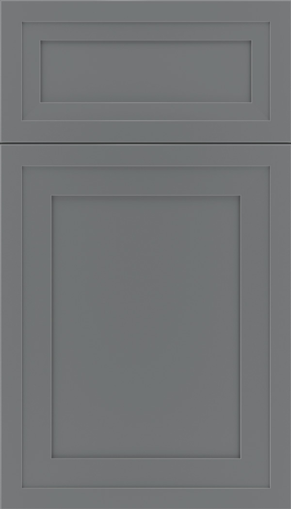 Asher 5pc Maple flat panel cabinet door in Cloudburst