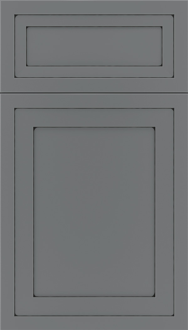Asher 5pc Maple flat panel cabinet door in Cloudburst with Black glaze