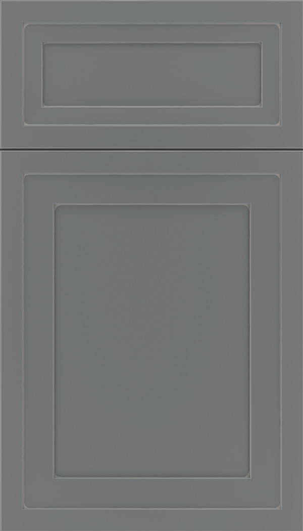 Asher 5pc Maple flat panel cabinet door in Cloudburst with Pewter glaze
