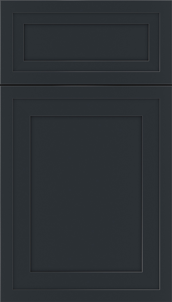 Asher 5pc Maple flat panel cabinet door in Gunmetal Blue