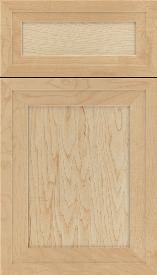 Asher 5pc Maple flat panel cabinet door in Natural