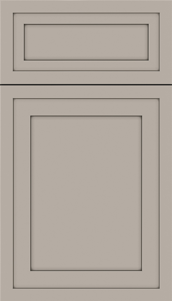 Asher 5pc Maple flat panel cabinet door in Nimbus with Smoke glaze