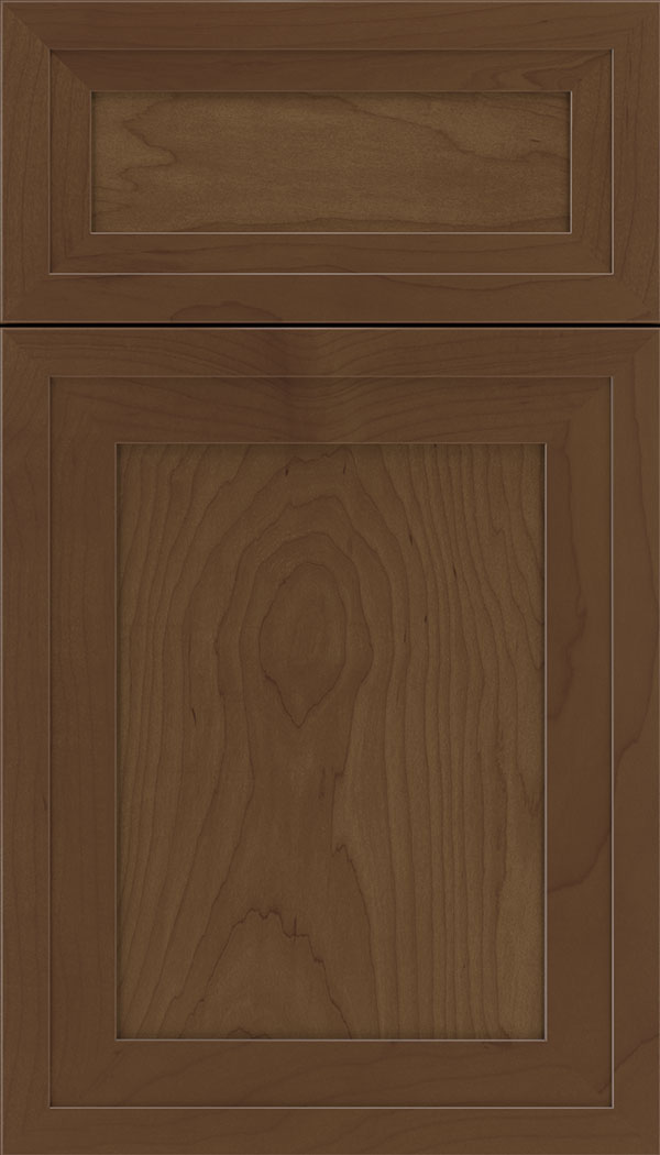 Asher 5pc Maple flat panel cabinet door in Sienna