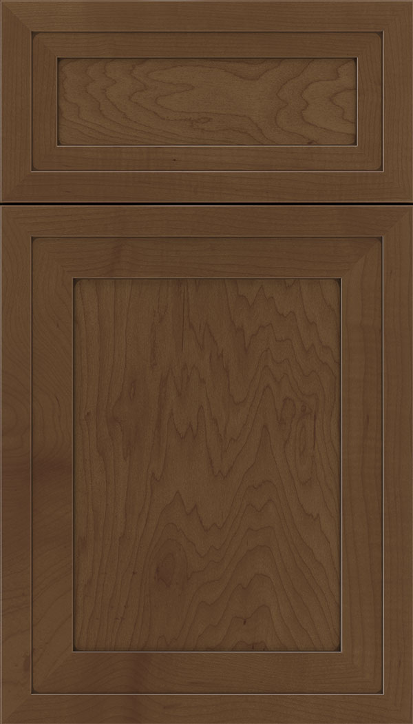 Asher 5pc Maple flat panel cabinet door in Sienna with Mocha glaze