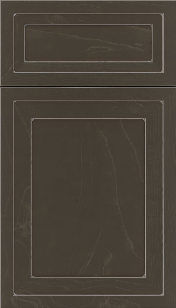Asher 5pc Maple flat panel cabinet door in Thunder with Pewter glaze