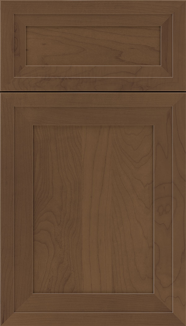 Asher 5pc Maple flat panel cabinet door in Toffee