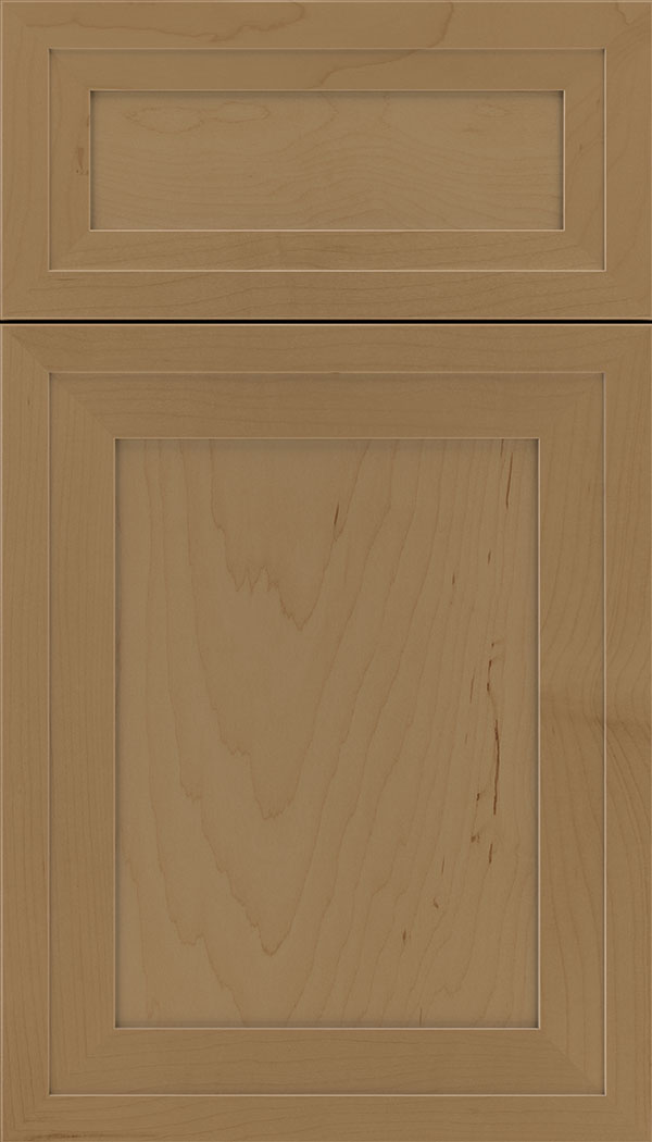 Asher 5pc Maple flat panel cabinet door in Tuscan