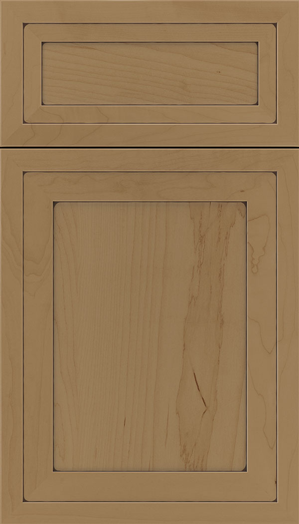 Asher 5pc Maple flat panel cabinet door in Tuscan with Mocha glaze