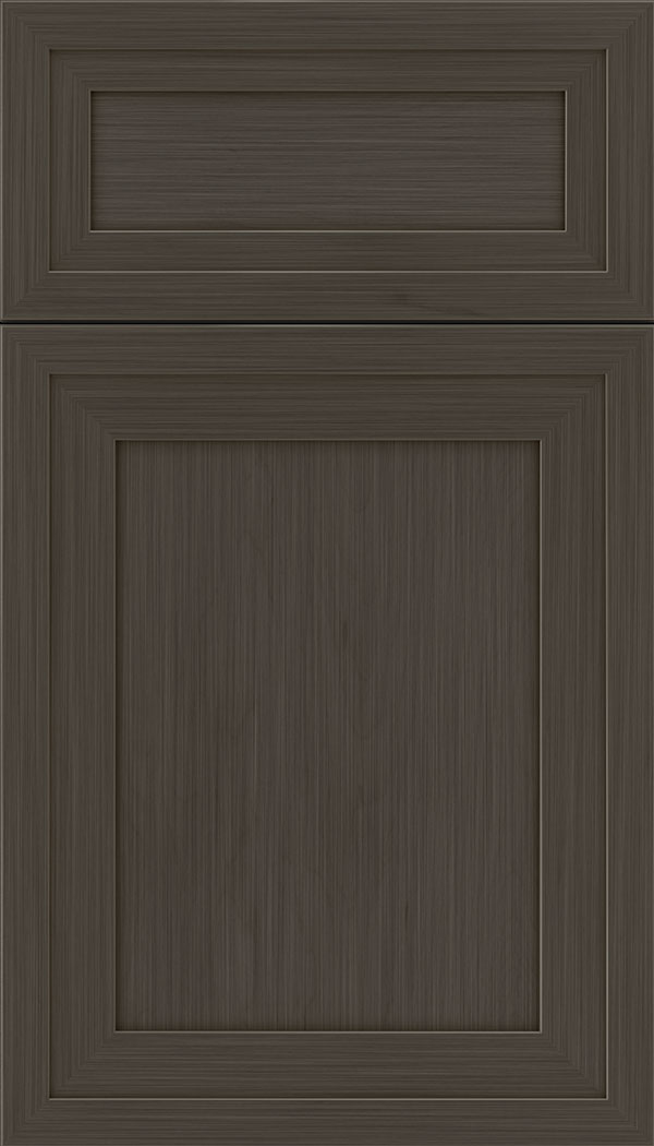 Asher 5pc Maple flat panel cabinet door in Weathered Slate