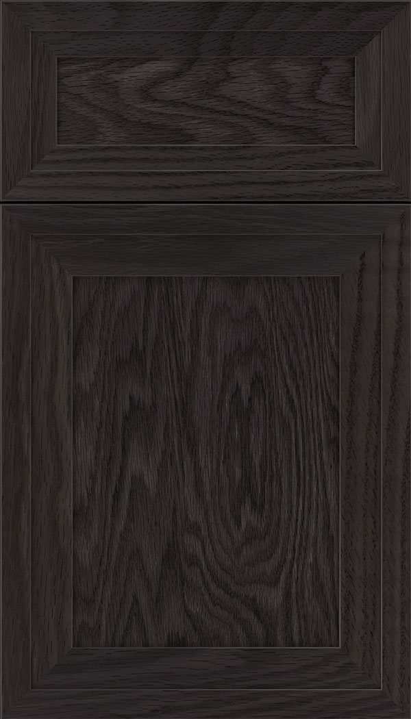 Asher 5pc Oak flat panel cabinet door in Espresso