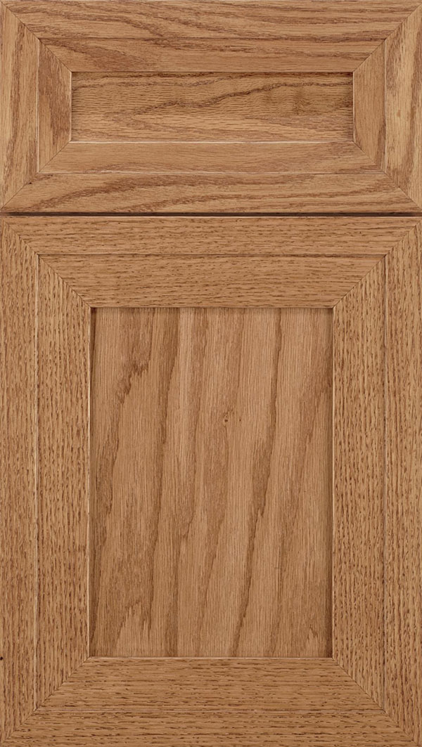 Asher 5-Piece Oak flat panel cabinet door in Spice