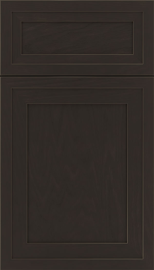 Asher 5pc Oak flat panel cabinet door in Thunder