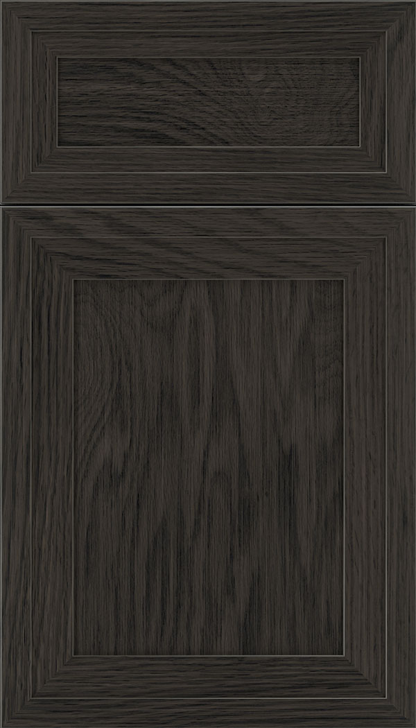 Asher 5pc Oak flat panel cabinet door in Weathered Slate