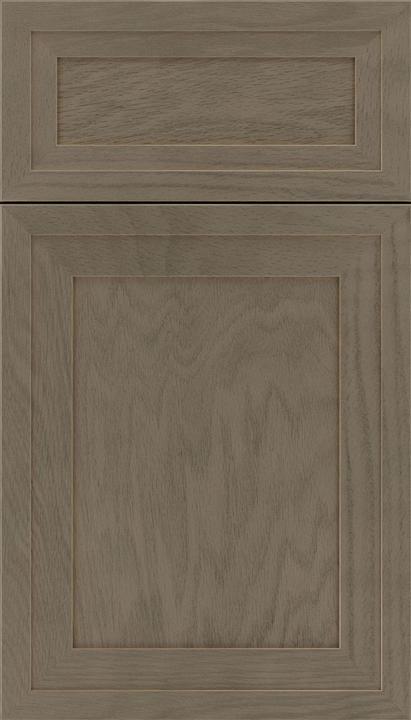Asher 5pc Oak flat panel cabinet door in Winter